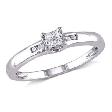 jcpenney.com | 1/8 CT. T.W. Diamond Sterling Silver Multi-Top Engagement Ring