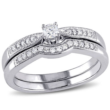 jcpenney.com | 1/5 CT. T.W. Diamond Sterling Silver Bridal Set