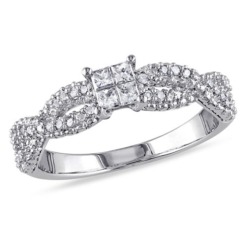 1/3 CT. T.W. Diamond Sterling Silver Engagement Ring
