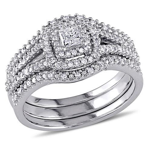 Diamond Sterling Silver Bridal Set 21
