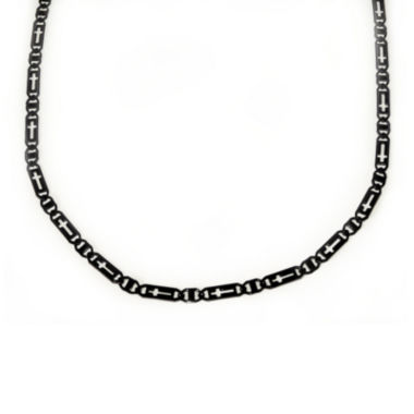 jcpenney.com | Mens Black Stainless Steel Cross Chain Necklace