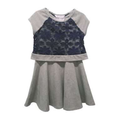 jcpenney.com | Marmelatta Short-Sleeve Lace Popover Dress - Preschool Girls 4-6x