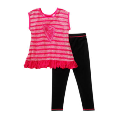 jcpenney.com | Youngland® 2-pc. Short-Sleeve Top and Leggings Set - Preschool Girls 4-6x