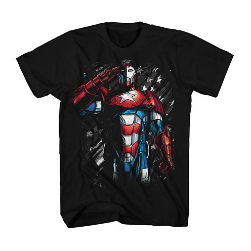 Marvel® Short-Sleeve Iron Patriot Cotton Tee