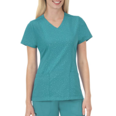 jcpenney.com | Jockey® Solid Illusions™ Womens Embossed Scrub Shirt - Plus
