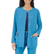 Jockey® Womens Modern Snap-Front Scrub Jacket - Plus