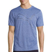 Puma® Outline Short-Sleeve Poly Tech Tee