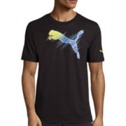 Puma® Scratch Out Short-Sleeve Graphic Tee
