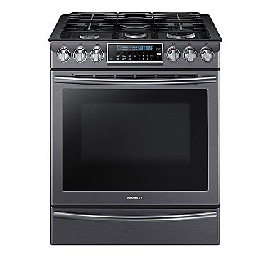 samsung 5 8 cu ft slide in gas range with self cleaning dual convection oven nx58h9500ws aa. Black Bedroom Furniture Sets. Home Design Ideas
