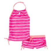 Free Country® Striped Tankini - Girls 7-16