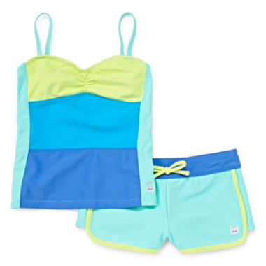 jcpenney.com | Free Country® Color Block Tankini - Girls 7-16