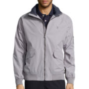 IZOD® Water-Repellant Radiance Bomber Lightweight Jacket