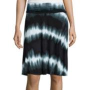 a.n.a® Folded Waistband Print Knit Skirt