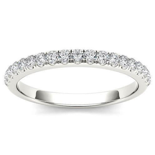 Womens 1/4 CT. T.W. White Diamond 10K Gold Wedding Band