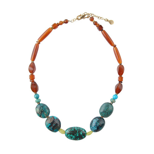 Artsmith By Barse Multi Color Bronze Beaded Necklace