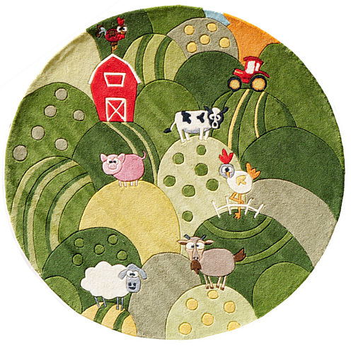 Momeni Lil Mo Farm Land Hand Tufted Round Rugs
