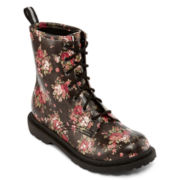 Arizona Dacey Womens Lace-Up Combat Boots