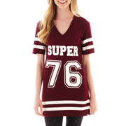 City Streets® Short-Sleeve V-Neck Football Tunic