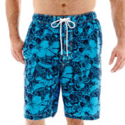 The Foundry Supply Co. Floral-Print Swim Trunks-Big & Tall