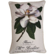 French Flowers Decorative Pillow