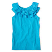 Arizona Ruffled Tank Top - Girls 6-16 and Plus