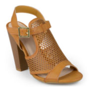 Journee Collection Open-Toe Slingback Heeled Sandals