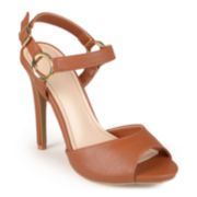 Journee Collection Ankle-Strap High Heel Sandals