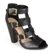 Journee Collection Cut-Out High-Heel Sandals