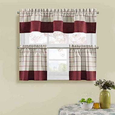 jcpenneycom bistro check kitchen curtains. Interior Design Ideas. Home Design Ideas