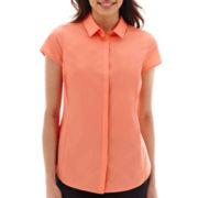 Worthington® Essential Short-Sleeve Shirt - Petite