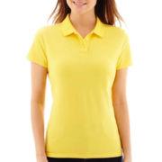 St. John's Bay® Short-Sleeve Polo Shirt - Petite