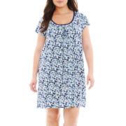 Adonna Short-Sleeve Nightshirt - Plus