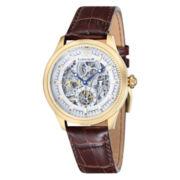 Thomas Earnshaw Men's Brown Academy Leather Strap Watch