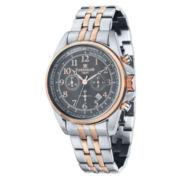 Thomas Earnshaw  Men's Rose Gold Tone And Gray Commodore Bracelet Watch