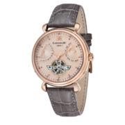 Thomas Earnshaw Men's Gray Grand Calendar Leather Strap Watch