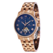 Thomas Earnshaw Men's Rose Gold Tone And Blue Westminster Bracelet Watch