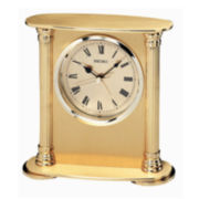 Seiko® Desk And Table Alarm Gold Tone Clock Qhe102gl