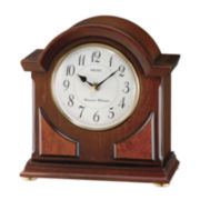 Seiko® Mantel Clock With Duel Chimes Brown Qxj012blh