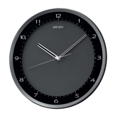 jcpenney.com | Seiko® Wall Clock With Black Metallic Case Qxa393jlh