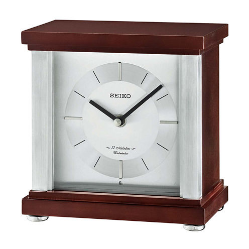 Seiko® Contemporary Classics Desk Clock Brown Qxw441blh