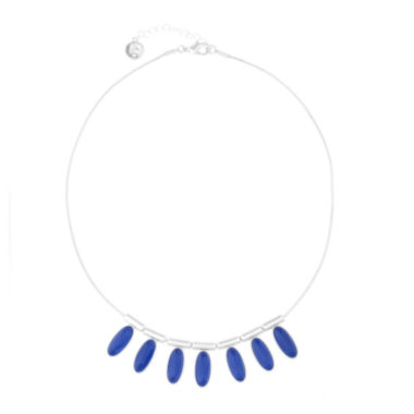 jcpenney.com | Liz Claiborne® 1820 Frontal Collar Blue & Silver-Tone Necklace