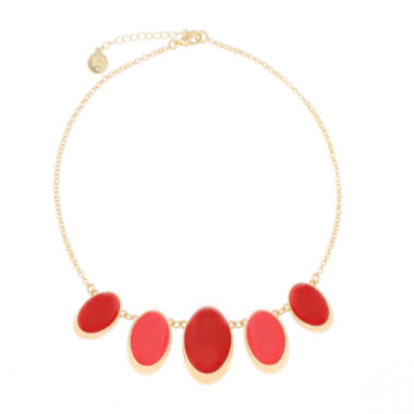 jcpenney.com | Liz Claiborne® Coral Acrylic Stone Gold-Tone Drama Necklace