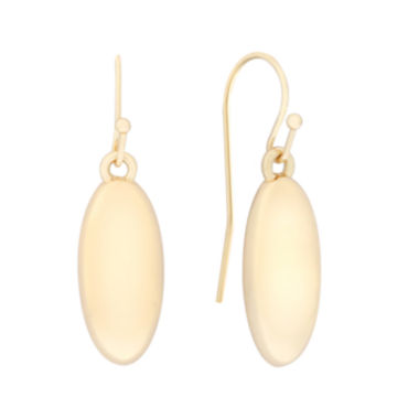 jcpenney.com | Liz Claiborne® Gold-Tone Oval Drop Earrings