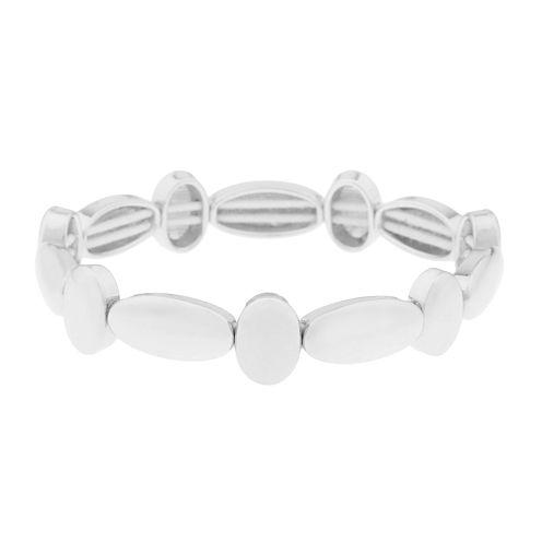Liz Claiborne® Silver-Tone Stretch Bracelet