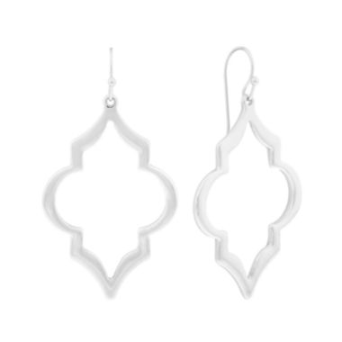 jcpenney.com | Liz Claiborne® Silver-Tone Open Drop Earrings