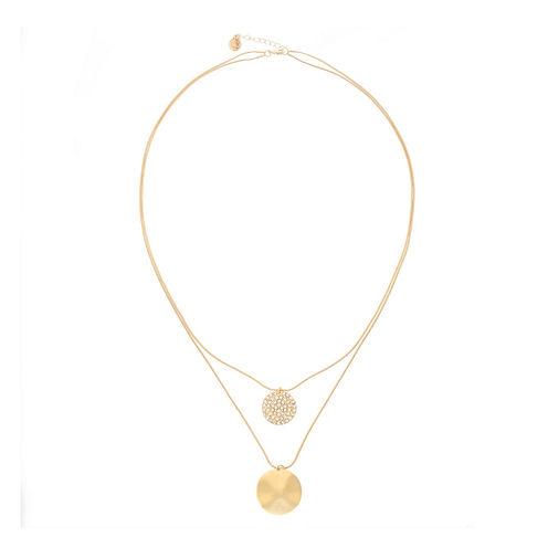 Liz Claiborne® Crystal & Gold-Tone Two-Row Long Pendant Necklace