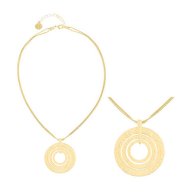 jcpenney.com | Liz Claiborne® Gold-Tone Two-Row Hammered Pendant Necklace