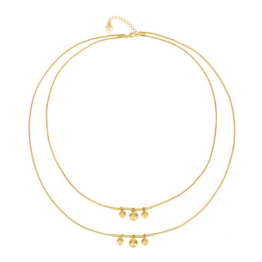 jcpenney.com | Liz Claiborne® Gold-Tone Layer Ball Necklace