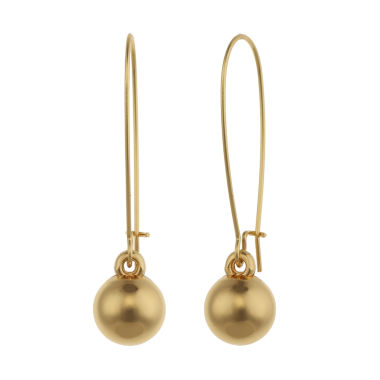 jcpenney.com | Liz Claiborne® Gold-Tone Ball Drop Earrings
