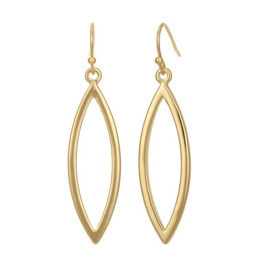 jcpenney.com | Liz Claiborne® Gold-Tone Open Dangle Earrings